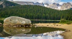 Brainard Lake in Ward Colorado. Brainard Lake Reflection at State Park in Ward Colorado royalty free stock images