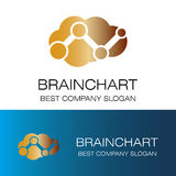 Brainchart symbolslogo Arkivfoto