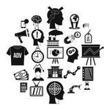 Brainchild icons set, simple style. Brainchild icons set. Simple set of 25 brainchild vector icons for web isolated on white background royalty free illustration