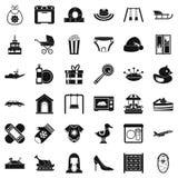 Brainchild icons set, simple style. Brainchild icons set. Simple set of 36 brainchild vector icons for web isolated on white background stock illustration