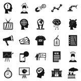 Brainchild icons set, simple style. Brainchild icons set. Simple set of 25 brainchild vector icons for web isolated on white background stock illustration