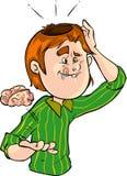 Brainless man stock illustration