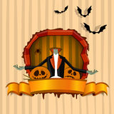 Brainless zombie. Halloween theme Royalty Free Stock Photo