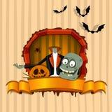 Brainless zombie. Halloween theme Royalty Free Stock Photo