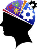 Brainpower logo. Illustration art of a brainpower logo with isolated background vector illustration
