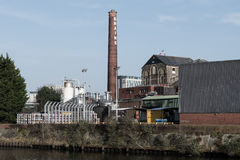 Brains Brewery next to the River Taff Stock Photos