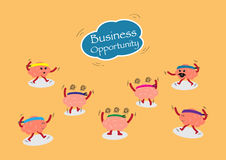 Brains chase business opportunity from sky Royalty Free Stock Image