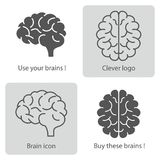 Brains icons. Smart logo for your business. Stock Images