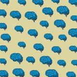 Brains pattern background. Cartoons vector illustration graphic design vector illustration