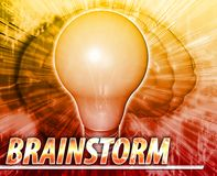 Brainstorm Abstract concept digital illustration Royalty Free Stock Image