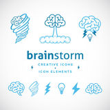 Brainstorm Abstract Creative Logo Template. Or Icons and Elements Set Isolated Royalty Free Stock Photo
