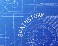 Brainstorm Blueprint Machine Royalty Free Stock Image