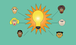 Brainstorm Bulb Stock Image