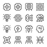 Brainstorm icon set. Brainstorm and business ..situation icon set,vector and illustration royalty free illustration