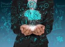 Brainstorm and business symbols concept