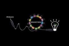 Brainstorm concept creative modern design,business concept Stock Images