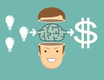 Brainstorm concept - Idea to make money. Stock Photography