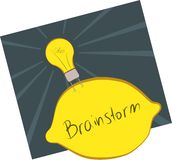 Brainstorm. Concept image of a brainstorm with an idea lightbulb Stock Photo