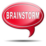 Brainstorm creative new innovations or ideas Stock Image
