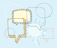 Brainstorm / Discussion or Chat and Speech bubbles Royalty Free Stock Photo