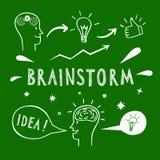 Brainstorm doodle elements vector illustration