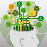 Brainstorm Ecology Environment Protection Recycle Ideas Stock Images