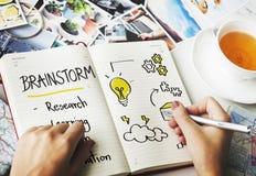 Brainstorm edukacja Inspiruje Uczy się diagrama pojęcie zdjęcie stock