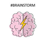 Brainstorm. High quality isolated vector Royalty Free Stock Photos