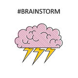 Brainstorm. High quality isolated vector Royalty Free Stock Photography