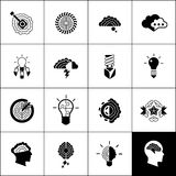 Brainstorm Icons Black Royalty Free Stock Photo
