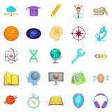 Brainstorm icons set, cartoon style. Brainstorm icons set. Cartoon set of 25 brainstorm vector icons for web isolated on white background Royalty Free Stock Photo