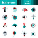 Brainstorm Icons Set Royalty Free Stock Photography