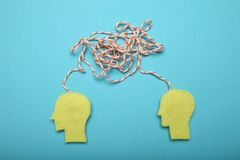 Brainstorm idea, team mind. Creative business work royalty free stock photo
