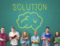 Brainstorm Ideas Sharing Solution Graphic Concept Stock Photos