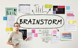 Brainstorm Inspiration Ideas Analysis Concept Stock Image