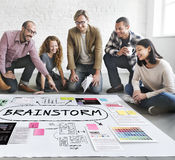 Brainstorm Inspiration Ideas Analysis Concept Stock Photography