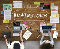 Brainstorm Inspiration Ideas Analysis Concept Stock Photography