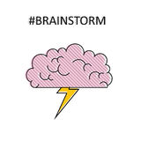 Brainstorm. Isolated vector lined object. Royalty Free Stock Images