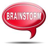 Brainstorm kreatywnie nowi pomysły lub innowacje Obraz Stock
