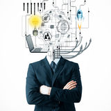 Brainstorm and leadership concept Royalty Free Stock Photo