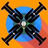 Brainstorm lub umysłu burza w akci Zdjęcia Stock