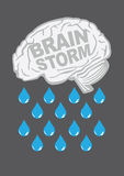 Brainstorm Metaphor Vector Illustration Royalty Free Stock Image