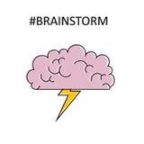 brainstorm Objeto alinhado vetor isolado Imagens de Stock Royalty Free