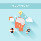 Brainstorm process concept in flat design Stock Images