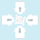 Brainstorm shirt origami Royalty Free Stock Images