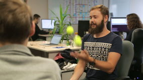 Brainstorm with something program stock video