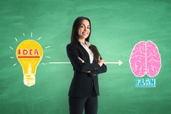 Brainstorm and success concept royalty free stock photography