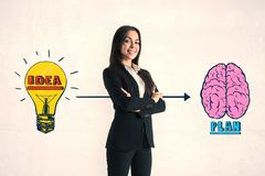 Brainstorm and success concept stock photography