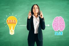 Brainstorm and success concept royalty free stock image