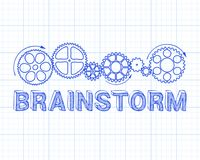 Brainstorm Graph Paper Stock Photography